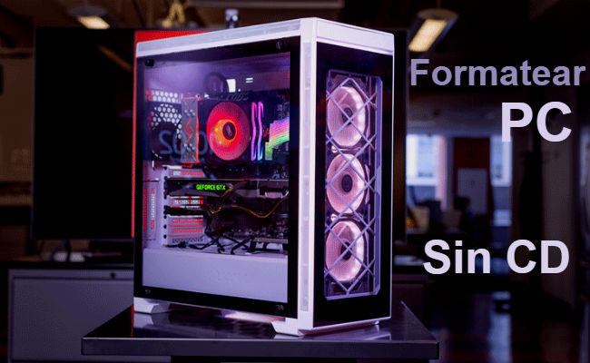 formatear ordenador sin CD