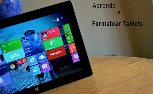 formatear tablet