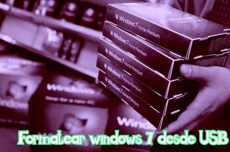 formatear pc windows 7