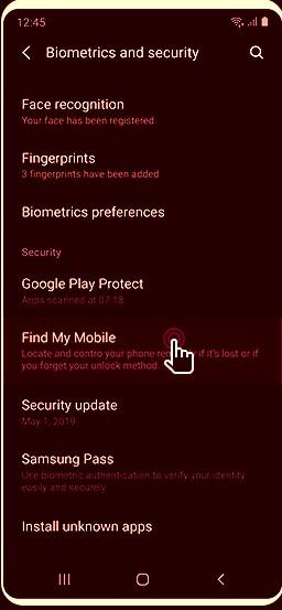 rastrear Samsung